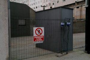 Aspecto actual de la zona, cerrada al paso de peatones